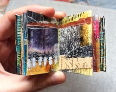mini art journals by artist Roxanne Coble (aka BY BUN)