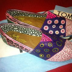 Hand painted Toms by Karen Laughlin