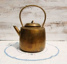 brass tea kettle.