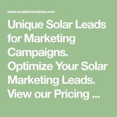 Unique MCA Leads for Marketing Campaigns. Optimize Your MCA Marketing Leads. View our Pricing to see how much MCA leads cost Lead Nurturing, Solar, Renewable Sources Of Energy, How Do I Get, Lead Generation, Digital Marketing, Investing, Campaign, Social Media