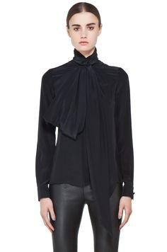 GIVENCHY  Bow Blouse in Black