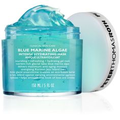 Peter Thomas Roth Blue Marine Algae Intense Hydrating Mask ($52) ❤ liked on Polyvore featuring beauty products, skincare, face care, face masks, beauty, no color, moisturizing facial mask, gel face mask, anti aging facial mask and moisturizing mask
