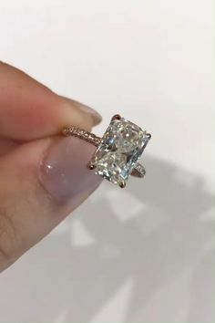 Big Engagement Rings, Radiant Cut Engagement Rings, Jewelry Rings, Jewelry Box, Jewellery, Unique Jewelry, Wedding Goals, Dream Wedding, Wedding Ideas