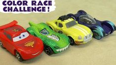 Learn Colors and Numbers with Cars McQueen Hot Wheels Color Race Challen.