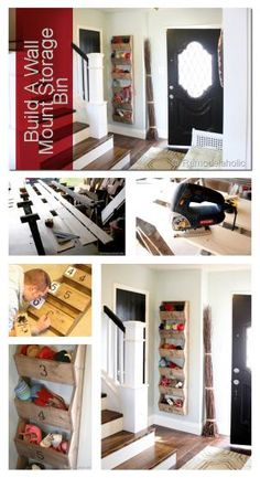 Build a Wall Mount Storage bin