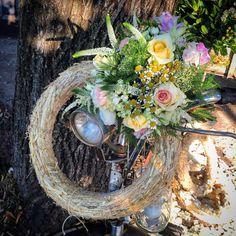 Wedding bicycle flowers