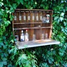 "Outdoor Wine Bar-Wine cabinet -Pallet Furniture-Bar Cabinet-Home Bar Furniture-Wine Storage Racks-liquor Rack-Kitchen Storage""Men's Club""."