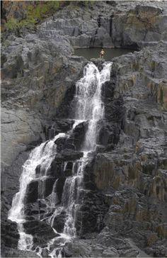 Stand atop a waterfall in Port Douglas #Australia  #cruising #RoyalCaribbean
