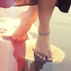 - Walking on Water with Regalia Store / Unscrippted, Crescent Moon anklet xx -