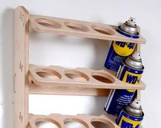 24 Can Spray Paint or Lube Can Wall Mount Storage Holder Rack Shoe Storage Rack Plans, Wall Mounted Shoe Storage, Garage Storage, Storage Shelves, Diy Garage, Garage Organization, Storage Ideas, Workshop Storage, Car Storage