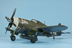"""P-47D Thunderbolt - Capt. Arlie Blood's """"The Bug"""" from August 1944. Completed 2/24/12."""