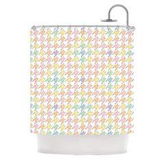 "Empire Ruhl ""Pastel Houndstooth"" Shower Curtain | KESS InHouse #bathroom"
