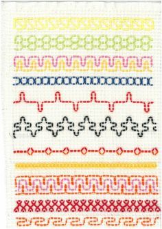 Vohvelikirjonta 4 Swedish Embroidery, Types Of Embroidery, Beaded Embroidery, Embroidery Stitches, Hand Embroidery, Free Swedish Weaving Patterns, Knitting Patterns, Quilt Stitching, Cross Stitching
