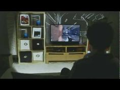 Illumiroom by Microsoft. Augmented reality gaming concept