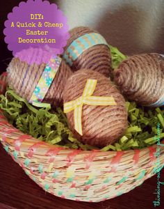 How to Make Quick, Cheap, Last-Minute Easter Decorations by CharleneBAsay