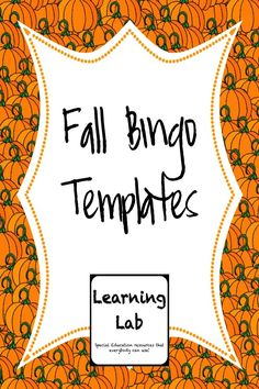 3 Fill-In Bingo templates for your classroom. Includes templates for * Apple Bingo * Pumpkin Bingo * Autumn Bingo (Leaves) Students can fill in with spelling words, vocabulary words, etc. Great for Fall parties! Teaching Activities, Classroom Activities, Teaching Ideas, Classroom Ideas, Bingo Template, Templates, Library Themes, Elementary Library, Spelling Words