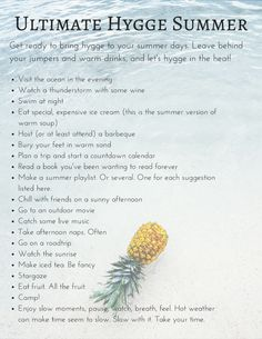 Hygge year-round —anywhere you love. Hygge for summer/ warmer climates. The Last Summer, Summer Time, Summer Months, Summer Ideas, Summer Fun, Summer Things, Summer Goals, Enjoy Summer, Summer Hygge