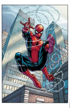 Spider-man by Todd Nauck Avengers Art, Marvel Art, Marvel Heroes, Ms Marvel, Captain Marvel, Spiderman Art, Amazing Spiderman, Spectacular Spider Man, Arte Dc Comics