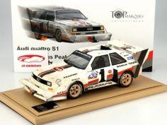 W. Röhrl Audi quattro S1 #1 Winner Pikes Peak 1987 Dirty Version 1:18 TopMarques