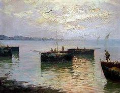 Pescadores en el puerto - Julius Karl Rose
