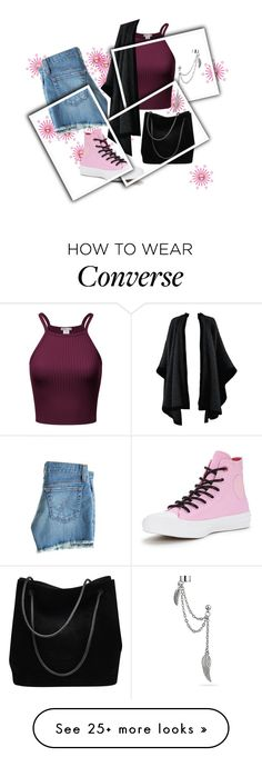 """Pink Sneakers"" by isis-anubis5 on Polyvore featuring AG Adriano Goldschmied, Yves Saint Laurent, Converse, Gucci and Bling Jewelry"