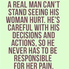 He is careful....
