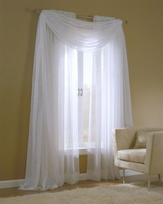 Sheer Curtains for Large Windows   emily window ensemble the light weight and enlightening features of ...