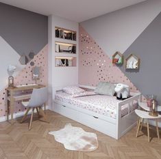 43 cute and girly bedroom decorating tips for girl 14 Girl Bedroom Designs Bedroom Cute Decorating Girl Girly tips Bedroom Decorating Tips, Decorating Ideas, Girl Bedroom Designs, Girls Bedroom Ideas Paint, Girl Bedroom Paint, Bedroom Kids, Teen Bedroom Colors, Girls Room Paint, Modern Kids Bedroom