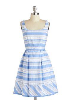 True Blue Sky Dress, #ModCloth