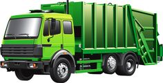 Buy Green Garbage Truck by busja on GraphicRiver. Detail vector image of modern garbage truck, isolated on white background. File contains gradients. No blends and str. Dump Trucks, Ford Trucks, Transport Images, Art Transportation, Ecommerce Logo, Pics Art, Truck Art, Garbage Truck, Transporter