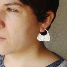Tribal silver earrings. Coming new finishes!!!