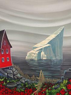 Beautiful Newfoundland artwork captured by artist Adam Young Framed Canvas Prints, Canvas Art, Adam Young, Young Art, Newfoundland, Beautiful Paintings, Abstract Landscape, Rock Art, Art Projects