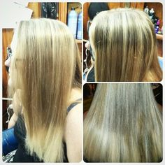 Blonde highlights with blonde ombre