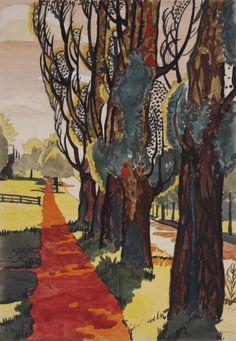 Poplar Walk (Three Poplars, Hot Sunlight; Row of Poplars) watercolour on paper Charles Burchfield (American, 1893-1967) 1916