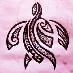 Hawaiian Tribal Turtle Tattoo Design
