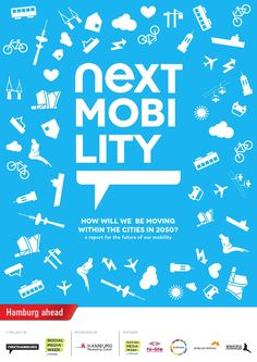 Imagine the year 2050! How will we be moving within our cities? Nextmobility is an initiative for crowd sourcing ideas for future mobility in urban areas. By engaging everyone around the world to share one's vision, ideas or best practice examples for future urban mobility on next mobility.net and during sessions, a VISION, gathered and collected in the Nextmobility report, for the cities of Hamburg and Copenhagen has been developed. Nextmobility is a project by Social Media Week (SMW) Ha... The Future Of Us, Future City, Walkable City, Urban Planning, Copenhagen, Crowd, Transportation, Cities, Social Media