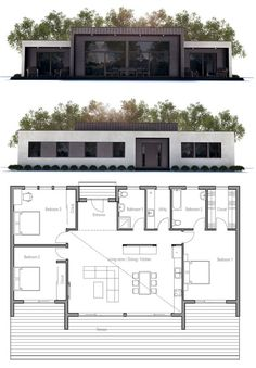 Modern House Plan, Architecture
