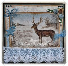 Everybody Art Challenge DT Christmas Card 2015 Art Challenge, I Card, Christmas Cards, Moose Art, Crafting, Projects, Animals, Christmas E Cards, Log Projects