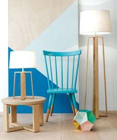 Beacon Lighting - Copenhagen Scandinavian inspired 1 light floor lamp in teak:
