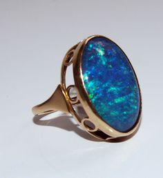 9ct Art Deco opal ring ebay