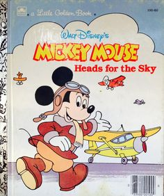 Mickey Mouse Heads for the sky Little Golden Book by Lonestarblondie on Etsy