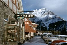 The Banff Cafe,a long time ago.    Banff Meatateria, 1955  Ink Jet Print, 20 x 29 in.