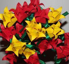 Preparando Tulipinhas em origami.