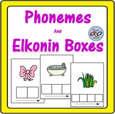 100 Elkonin Boxes for 2, 3 and 4 Phonemes Elkonin Cards are great for learning phonemes and segmenting and blending sounds. Students look at the card, touch each square for each sound in the word then trace the arrow as they blend the sounds to form the word that the picture represents.
