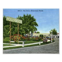 The Circle, Hollywood, Florida Vintage Print