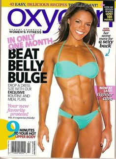 Oxygen Magazine, Alicia Harris, sexy back, meal plan, easy recipes, March 2012~NEW