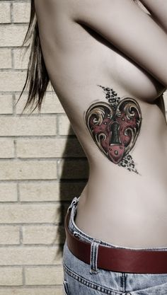 Tattooed girl. #tattoo #tattoos #ink always had an obsession with the heart and key