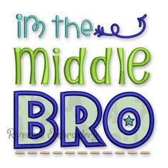 Middle Bro Applique Machine Embroidery Design #2