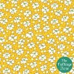 Floursack Mini Flower Yellow Amy Butler Fabric, Nursery Fabric, Cabbage Roses, Fig Tree, Quilts, Flower, Yellow, Mini, Ficus