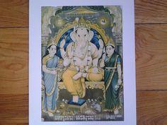 Ganesh by L.A. Joshi Dakor. Dated 1939. by Lallibhai on Etsy, £25.00